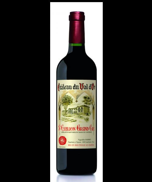 bouteille val d'Or , Saint-emilion grand cru , vignobles bardet
